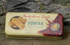 Vintage Scottish collectible advertising biscuit tin macfarlane lang FORFAR