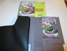 NES NINTENDO GAME MILLIPEDE  WITH BOOKLET AND DUST COVER