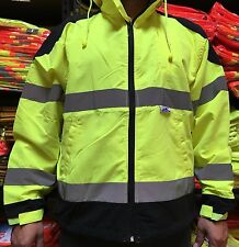CLASS 3 High Visibility Safety Windbreaker , ANSI/ ISEA 107-2015