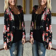 Ethnic Style Flower Pattern Thin Cardigan Spring Autumn Blouse Tops for Women
