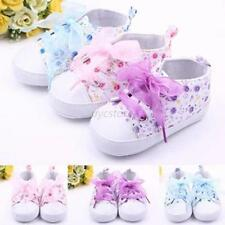 Kids Child Baby Boots Girls Lace Up Sole Crib Sneakers Shoes Toddler Shoes 0-18M