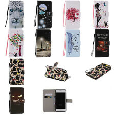 For iPhone 7 plus strap stand card holder magnetic card slots wallet cover skin