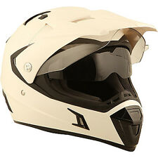 Duchinni D311 White Moto Motorcycle Motocross Dual Adventure Helmet | All Sizes