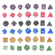 Shimmering Serial Bright Color 7 Pcs Set Creative Multi-Faceted Acrylic Dice SM