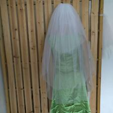 white / Ivory wedding veil 3T fingertip Bridal Veil with comb Trimming