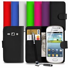Premium Leather Wallet Case For Samsung Galaxy Fame (S6810) Mini Big Stylus