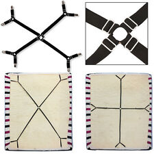 Elastic Crisscross Bed/Fitted Sheet Straps Suspenders Gripper/Holder/Fasteners