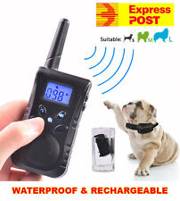 NEW 3 in 1 Pet Training Anti Bark Vibration With Remote Dog Stop Barking Collar