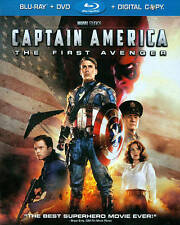 Captain America: The First Avenger (Blu-ray/DVD, 2011, 2-Disc Set, Inc. Dig)