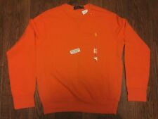 NEW AUTHENTIC $70 POLO RALPH LAUREN Polo Sweatshirt Med XL XXL Pony Orange