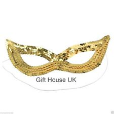 Gold Sequin Eye Mask Masquerade Cat Women Girls Kids Mask For Party Fancy Dress