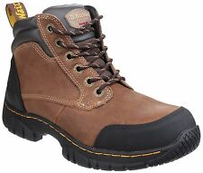 Dr Martens Riverton 21804203 Safety Boots Brown Steel Toe Caps Mens & Womens Pre