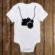 Photographer Camera Onesie - Funny unisex baby clothes Adorable Gerber Infant