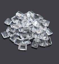 4x6mm - 8x10mm Natural White Topaz Octagon Cut Top Quality White Color Gemstone