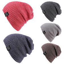 Knit Women Men Beanie Snowboard Ski Knit Skull Winter Warm Hat Cap Unisex DA