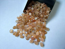 7x5mm - 15x20mm Natural Peach Moonstone Cabochon Oval Top Quality Loose Gemstone