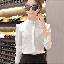 New Solid Professional Women Office Long Sleeve OL Tops Blusas Blouse Shirts