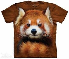 Red Panda Portrait Kids T-Shirt by The Mountain. Wild Zoo Animals Mammal Youth
