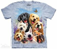 Dogs Selfie Kids T-Shirt by The Mountain. Pet Animals Puppy Puppies Mammal Youth