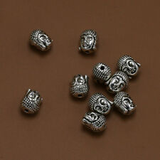 5/25/50pc Tibet silver Buddha Head 2mm Hole Charm Bracelets Spacer Beads