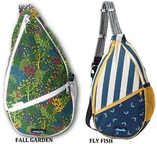 """KAVU Paxton Pack Multi-Use Rope Sling Shoulder Bag 19""""x19""""x5"""" Roomy Crossover"""