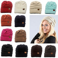Fashion Women Men Winter Knitted Wool Cap Warm Folds Casual Hip-Hop Beanies Hat