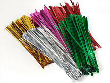 "1000 Mixed  4"" or 6"" METALLIC Twist Ties Cello Bag or General Use"