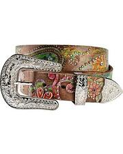 Nocona Women's Floral Paisley Print Leather Belt - N3488097