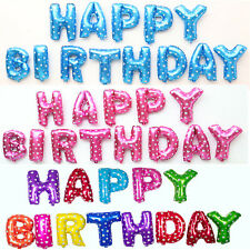 """16"""" 1 Set  HAPPY BIRTHDAY Letters Foil Balloons Birthday Party Decoration Decor"""