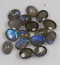 3x5mm - 13x18mm Natural Labradorite Cabochon Oval Top Quality Loose Gemstone
