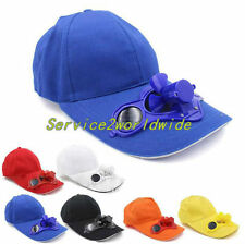 Summer Sport Outdoor Hat Cap with Solar Sun Power Cool Fan For Cycling SM