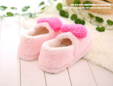 Girls plush heart-shaped warm new winter women slippers shoes indoor pink lovers