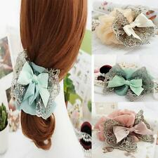 Elastic Accessories Lace Bow Hair Scrunchie Ponytail Holder Scrunchy Hair Band