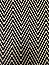 Big Chevron Pattern Stretch Textured Double Knit Rayon Polyester Spandex Fabric