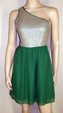 Kensie Dresses NWT Szs 6 10 12 14 Marbled Sequin & Green One Shoulder Dress 5324