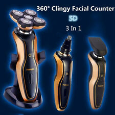 Deluxe Rotary 5D Rechargeable Waterproof Men's Cordless Electric Shaver Razor HG