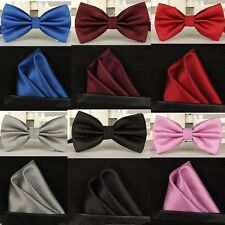 100% silk Solid bowtie men vintage purple black yellow silver wedding bow tie po