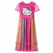 NWT Hello Kitty Foiled Star Dot Nightgown XS S M Dress Up Pajamas Pink