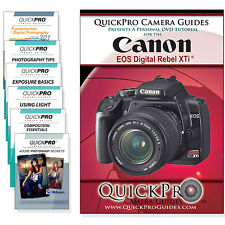 Canon Rebel Xti Quickpro Camera Training DVD Instructional Guide SLR NEW