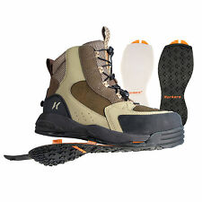 Korkers Redside Fly Fishing Wading Boots w/ Felt & Kling-On Outsoles - All Sizes