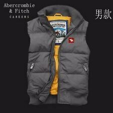 Abercrombie and Fitch Graphic Design Gilet Coat Men's Gray S/M/L/XL