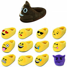 New Emoji Plush Stuffed Unisex Slippers Cartoon Winter Home Indoor Shoes Slipper