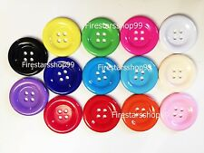 Buttons 50 MM 2 Inch 4 Holes DIY Extra Large Sewing Craft Clasper Plastic