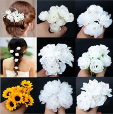 6pcs Handmade Flower Crystal Hair Pins Wedding Party Bridal Prom Hairpins Clips