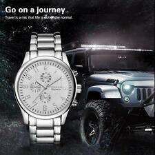 CURREN Men Fashion Luxury Big Dial Waterproof Quartz Stainless Steel Wrist Watch