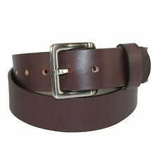 New Toneka Men's Leather Bridle Belt with Removable Buckle