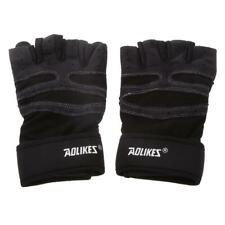 Weight Lifting Gym Training Gloves Fitness Exercise Long Wrist Strap