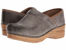 Dansko PROFESSIONAL STONE DISTRESSED Womens Leather Slip On Mule Clog Shoes