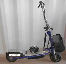 ZAP! Zappy  Folding Electric Scooter w/Charger & Basket  (Blue or Black)