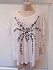 NWT LAUREN MOSHI Spider T-Shirt Top Short Sleeve White Loose Fit Tee